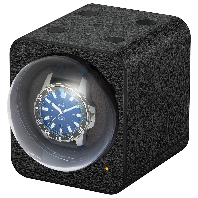 Boxy Fancy Brick Uhrenbeweger - Farbe Schwarz - Lederoptik