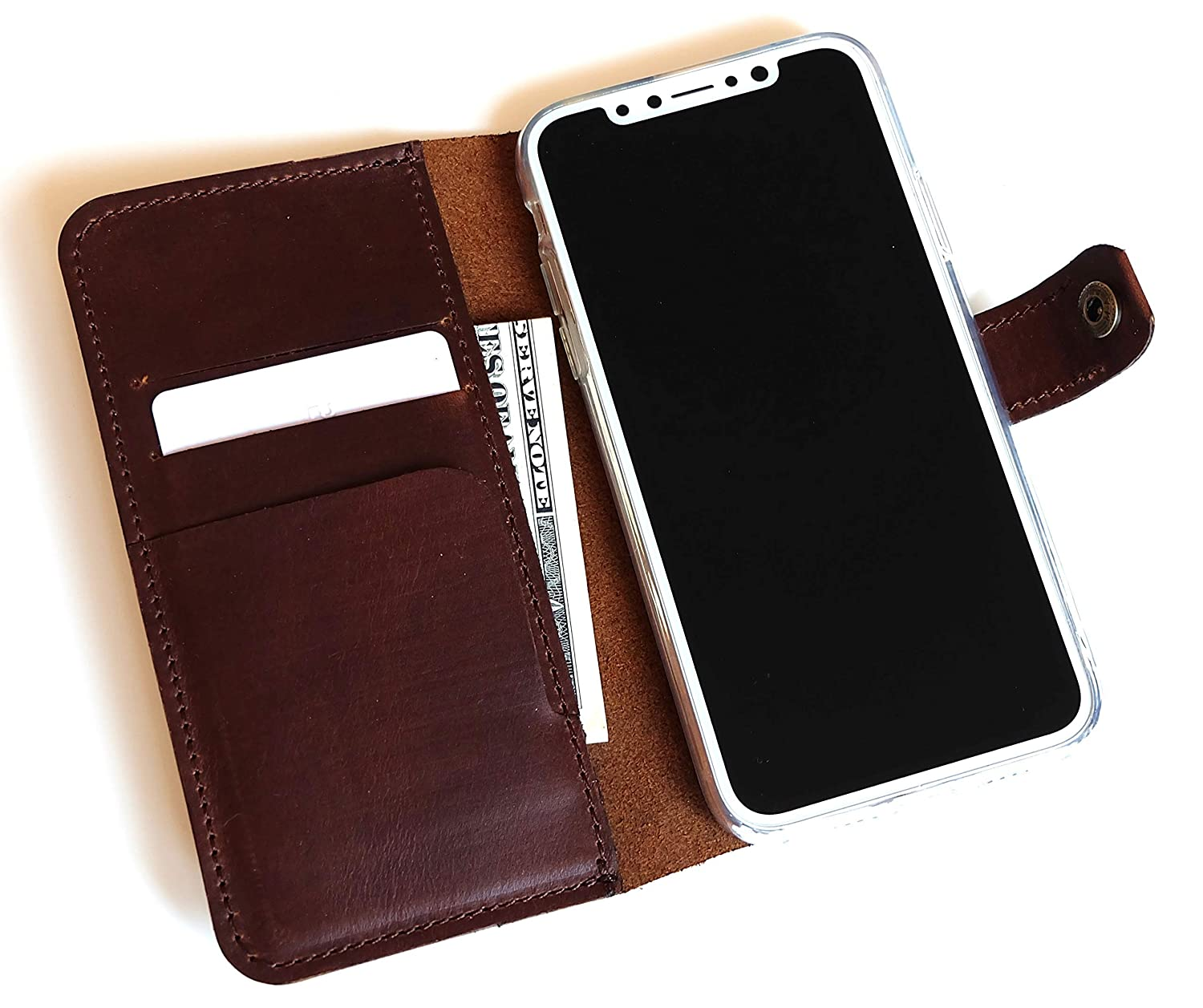 iPhone XS/iPhone X wallet case leather phone flip with card slots for Apple