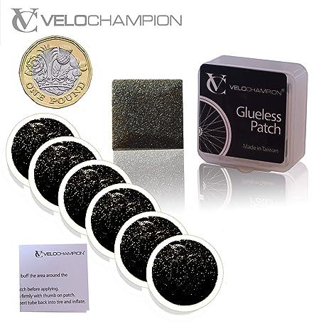 VeloChampion Puncture Repair Patches Autoadhesivo Pack de 6 ...
