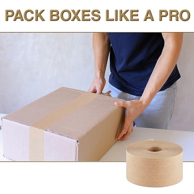 Amazon.com: Crowell reforzado cinta de papel Kraft engomado ...