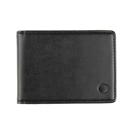 Decisive Wallet / Cartera Fina Para Hombre / Pequeña, Ligera y Fina / Negra (Negro)