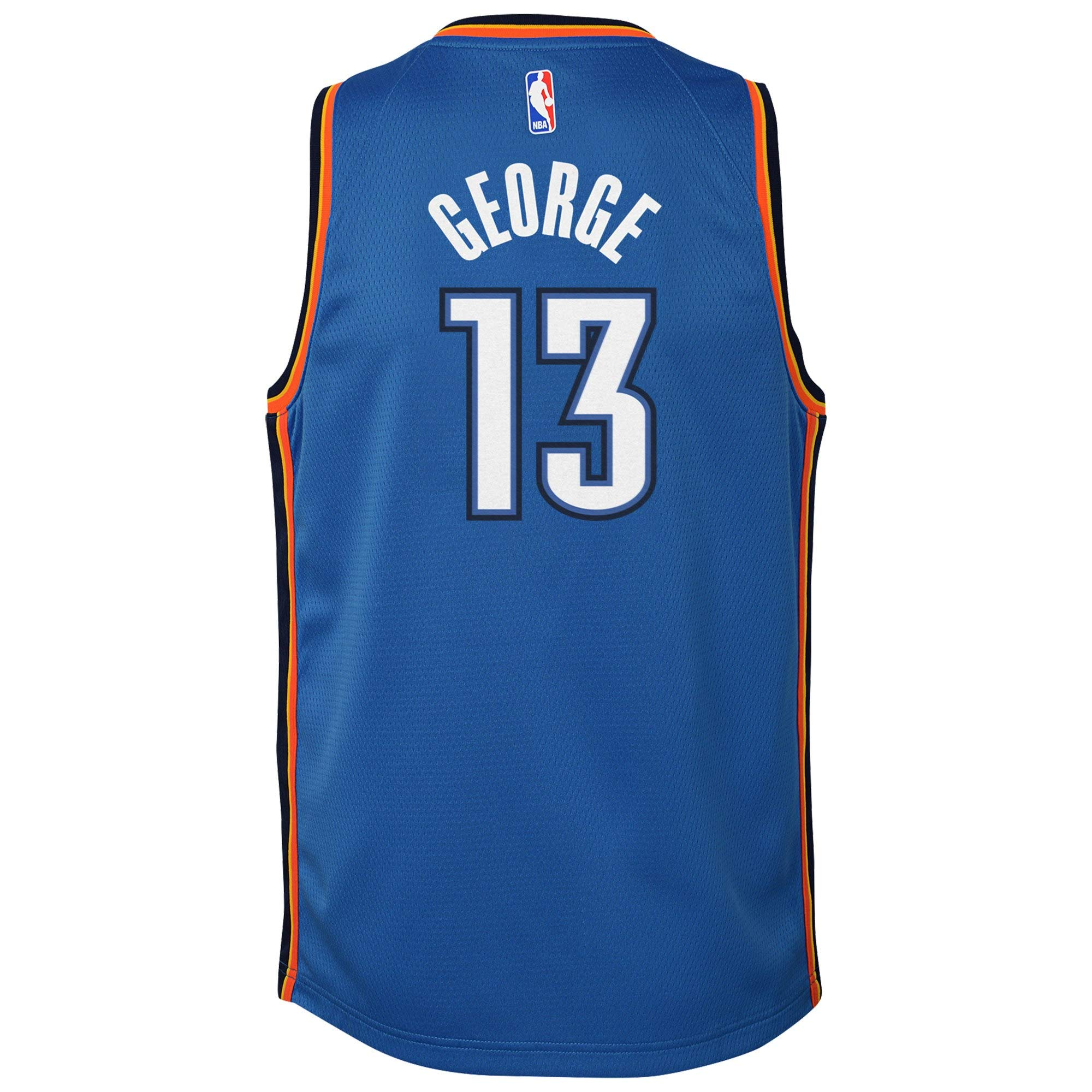 Nike Youth Paul George Oklahoma City Thunder Icon Edition Jersey - Blue (Gold, Youth Large (14-16)) by Nike (Image #3)