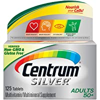 Centrum Silver Adult (125 Count) Multivitamin / Multimineral Supplement Tablet,...