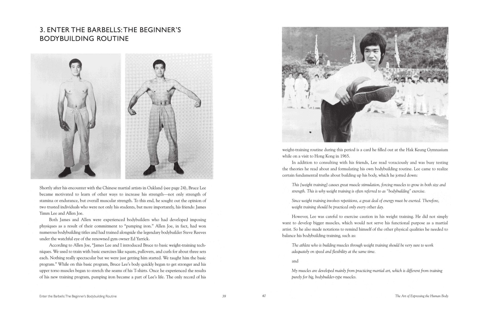 The Art Of Expressing The Human Body Bruce Lee John Little