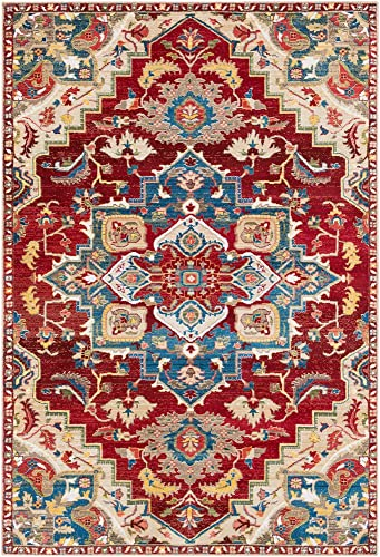 Surya Crafty-3 x 5 Area Rug, Red, Orange