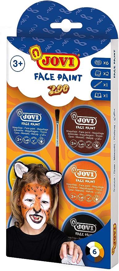 Jovi Face Paint, Set Zoo, 6 Botes, 8 ml, Colores Surtidos y ...
