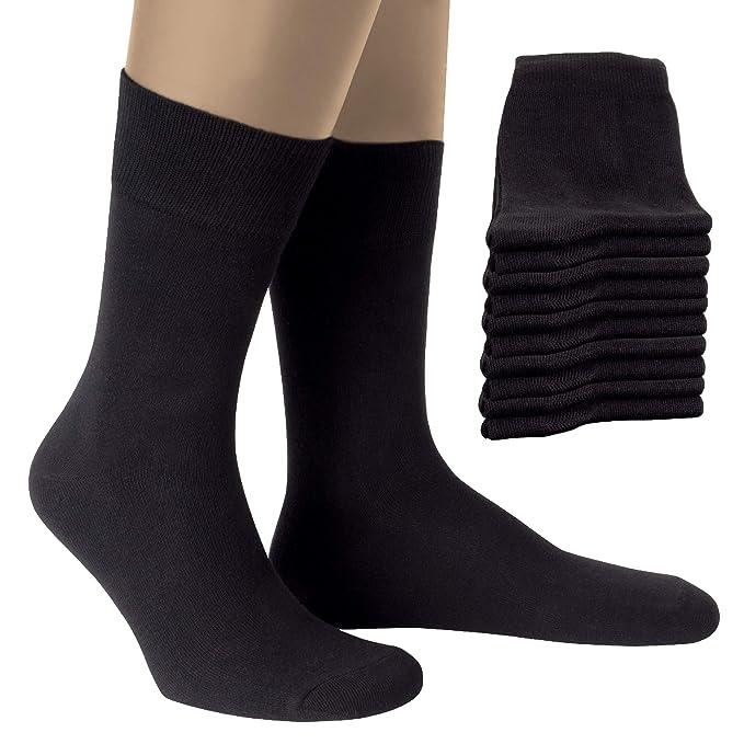 ALL ABOUT SOCKS Calcetines Hombres y Mujer (10 Pares) - PREMIUM Calcetines ejecutivo de algodón para trabajo y ocio - Algodón Peinado - Hecho en ...