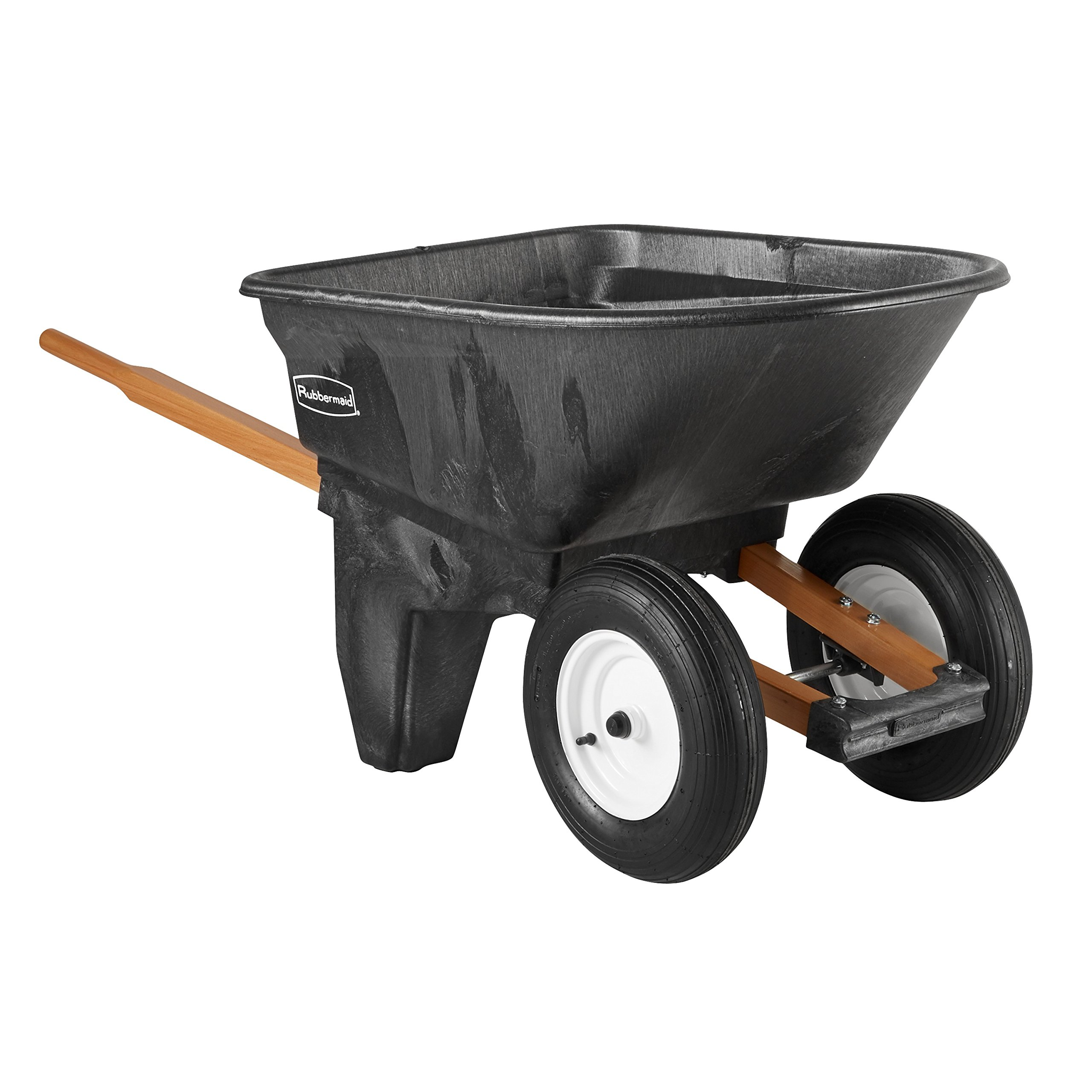 Rubbermaid Commercial FG565961BLA Unassembled Plastic 2-Wheel Wheelbarrow, 200-Pound Capacity