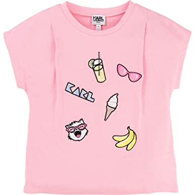 af6905da3 Karl Lagerfeld Kids Choupette Cotton T-Shirt - Washed Pink - 5 Years:  Amazon.co.uk: Clothing