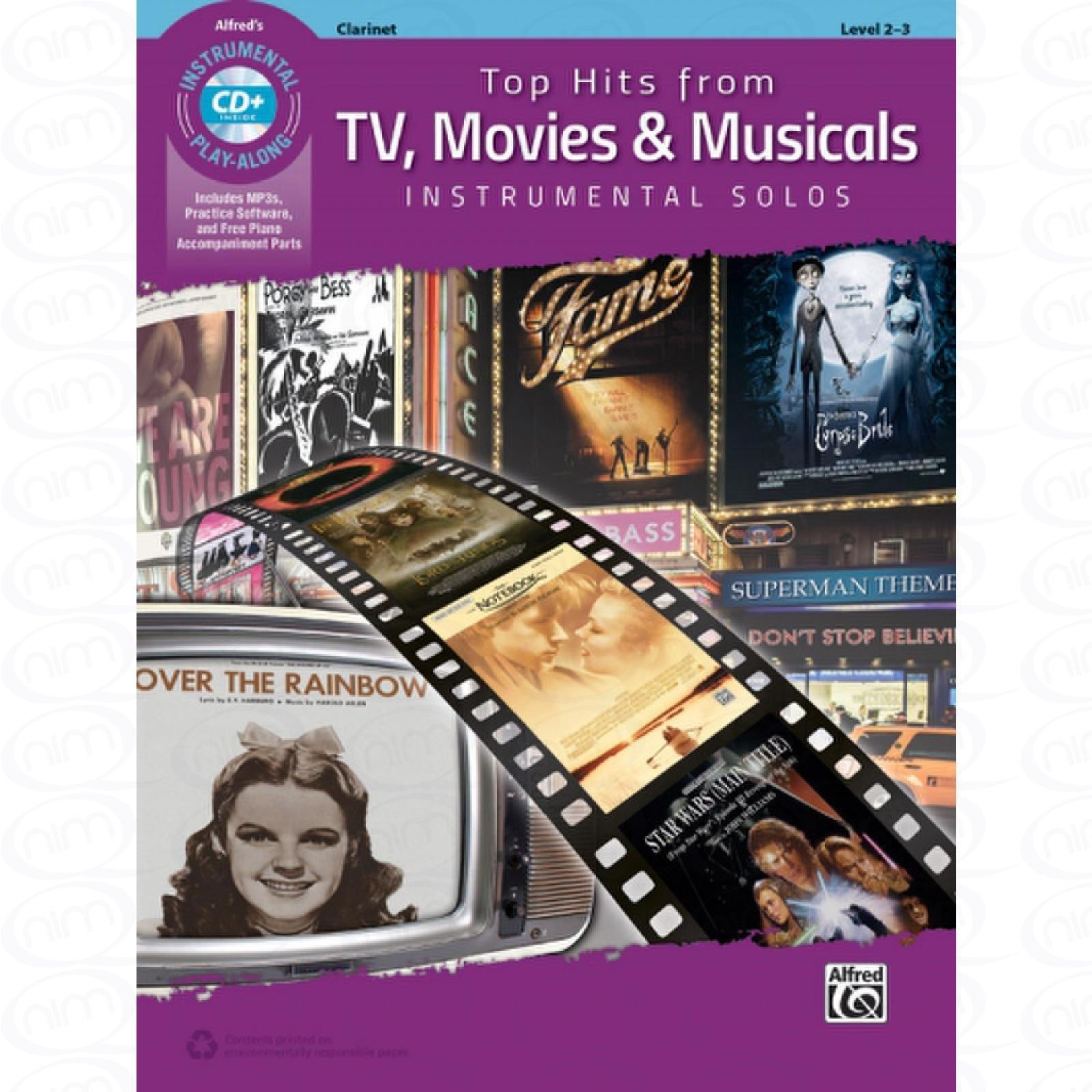 TOP HITS FROM TV MOVIES + MUSICALS   Arrangiert Für Klarinette   Mit CD  Noten Sheetmusic  Aus Der Reihe  INSTRUMENTAL SOLOS