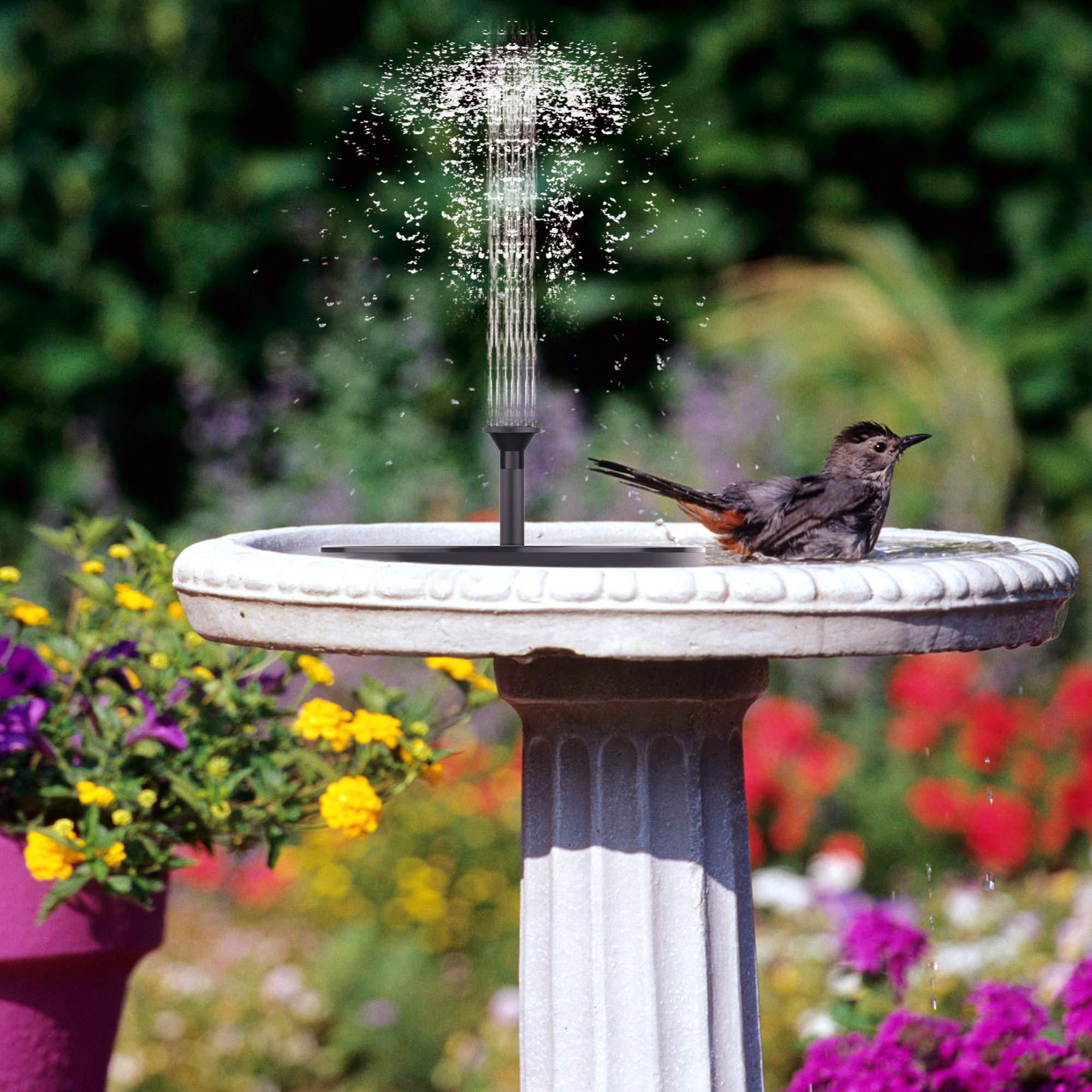 FaayFian 2W Solar Birdbath Fountain Pump, Cordless Solar Bird Attractive Pump for Outdoor Garden Decoration, Watering Submersible Pump for Pond, Swimming Pool, Fish Tank by FaayFian (Image #2)