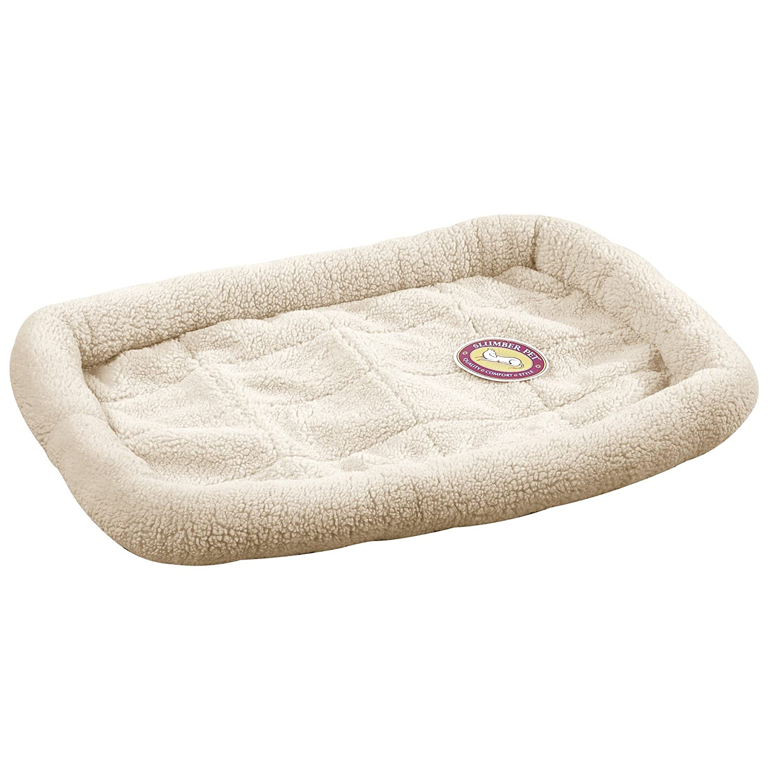 Amazon.com : Slumber Pet Sherpa Crate Beds - Comfortable Bumper-Style Beds  for Dogs and Cats, X-Small, Natural Beige : Dog Crate Pad : Pet Supplies