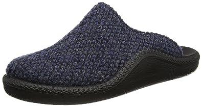 Romika Herren Mokasso 233 Pantoffeln, Blau (Blau-Kombi 501 501), 39 EU