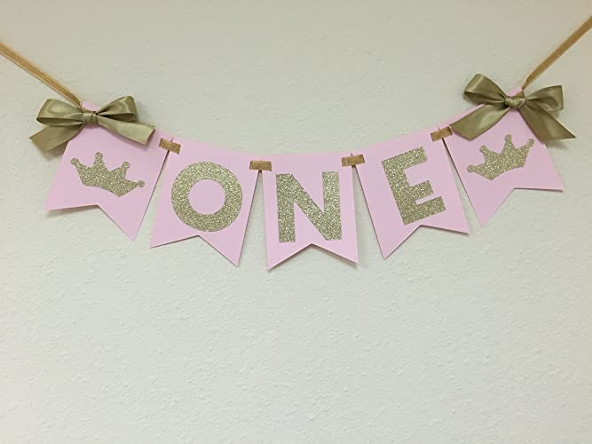 Amazon Pink And Gold Tiara High Chair Banner Princess Party