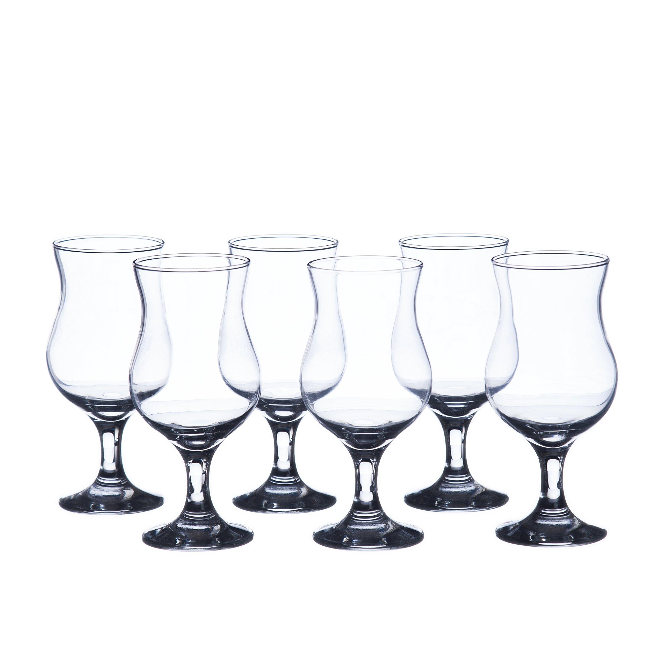 MADERIA Hurricane Cocktails Glasses Sets, 13 oz. (6-piece set, 12-piece set), Durable Tempered Glass, Restaurant&Hotel Quality (12)