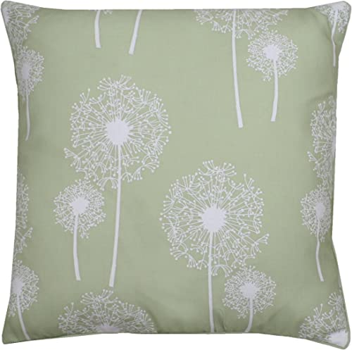 Thro by Marlo Lorenz 7065 Faux Linen Feather Fill Dandelion Glitter Print Pillow, 20 by 20-Inch, Margarita
