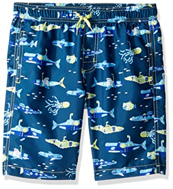 cb83ad32b0637 Hatley Little Boys' Swim Trunks, Animal Subs, 2 Years