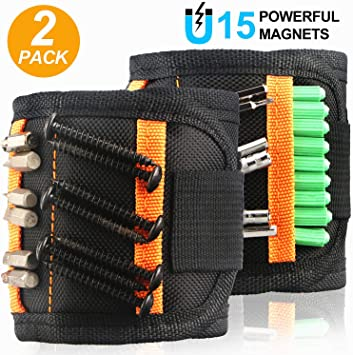 MAGNETIC TOOL WRISTBAND HOLDER CARRY STRAP Pouch//Pocket//Belt//Nails//Screw//Bits