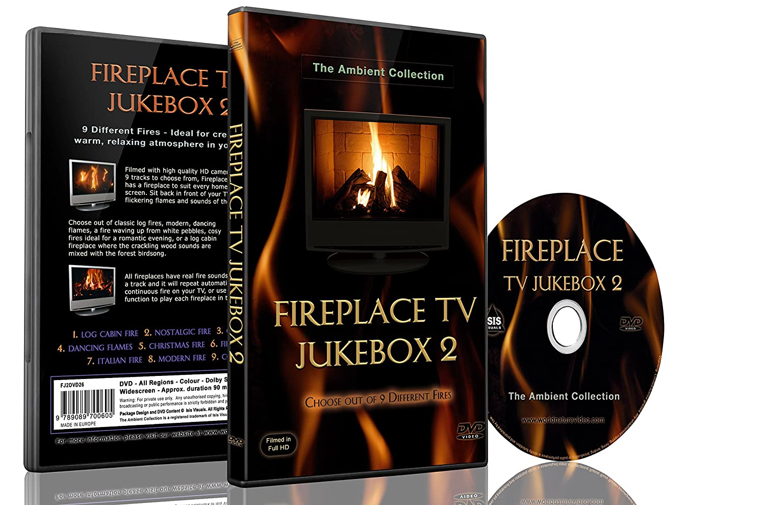 fire dvd fireplace tv jukebox 2 choose out of 9