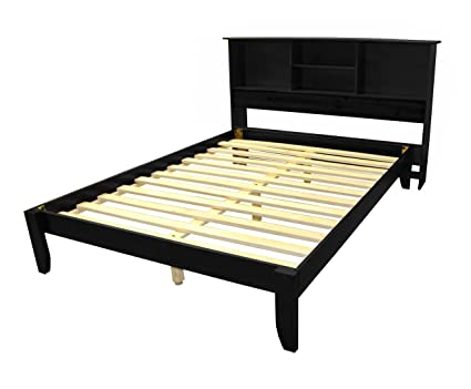 Amazoncom Stockholm Solid Wood Bamboo Platform Bed Frame With