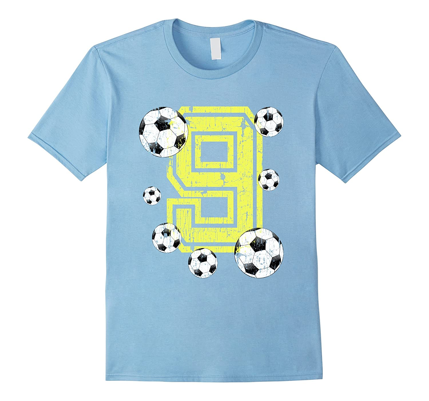 9e85128dce4 9th Birthday Soccer Fan T-Shirt Gift for Girls and Boys-PL – Polozatee