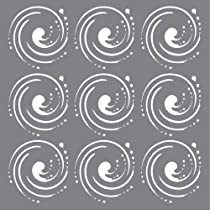 Grey Andy Skinner Mixed Media Whirlpool Stencil 6 x 6-Inch