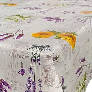 Hule, mantel encerado para mesa, lavable, diseño de lavanda y la ...