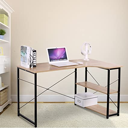 Superbe WOLTU Office Computer Desk For Small Spaces With 3 Tier Shelf Storage