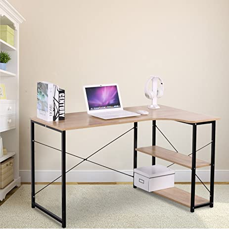 small office computer desk. WOLTU Office Computer Desk For Small Spaces With 3 Tier Shelf Storage
