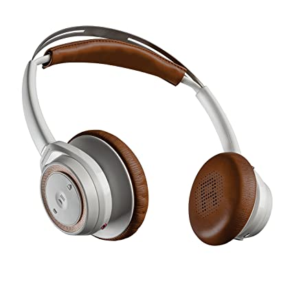 f5e8ffb7244 Amazon.com: Plantronics Backbeat Sense Wireless Bluetooth Headphones with  Mic - White: Cell Phones & Accessories