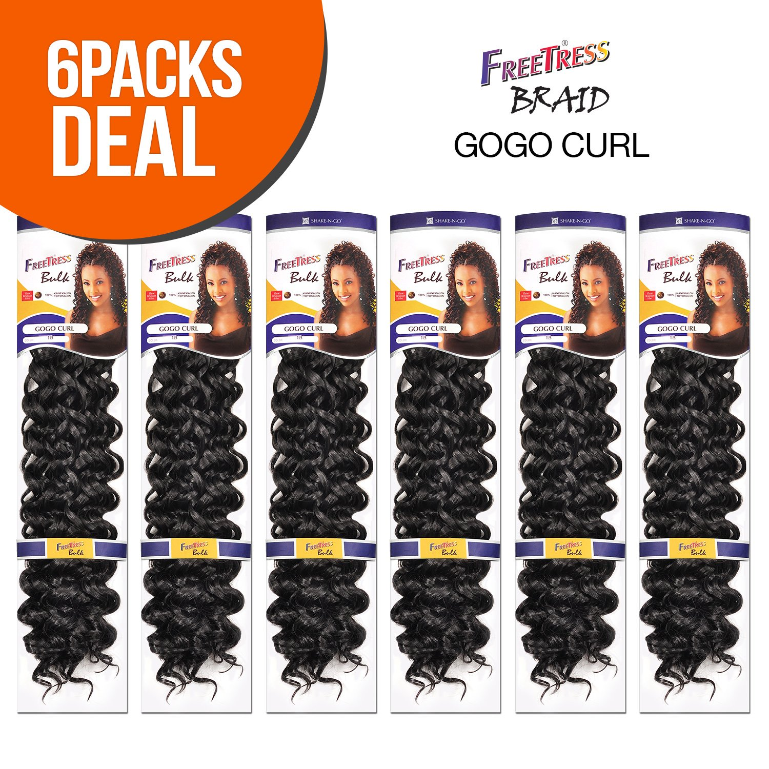 Spasm price Synthetic Hair Inexpensive Braids FreeTress 30 GoGo Curl 6-PACK