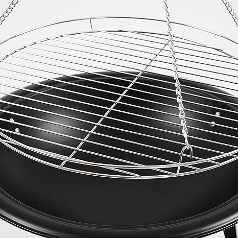 BBQ Toro pivotant Barbecue Ø 55 cm Noir Flèche avec