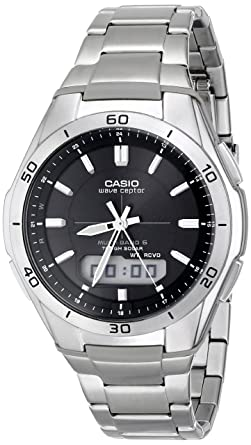87a6d85305 Casio Men's WVA-M640D-1ACR Wave Ceptor Analog-Digital Stainless Steel  Bracelet Watch