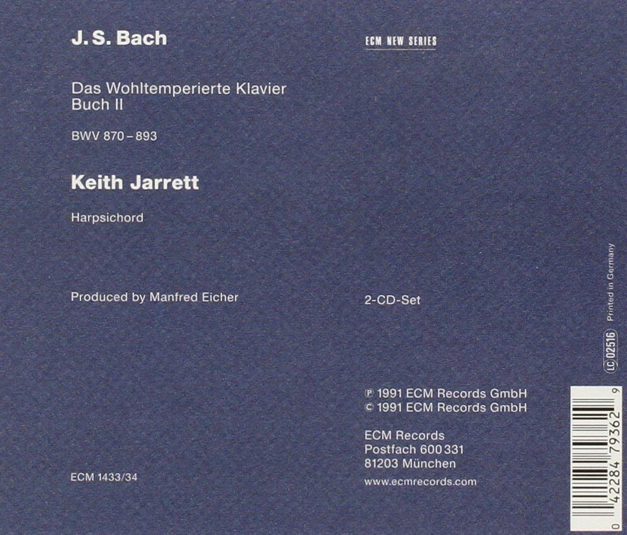 Keith Jarrett - Bach: Well-Tempered Clavier Book 2 / Keith Jarrett ...
