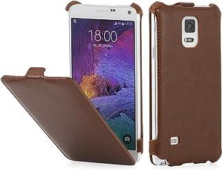 StilGut Slim Case, custodia per Samsung Galaxy Note 4, cognac vintage