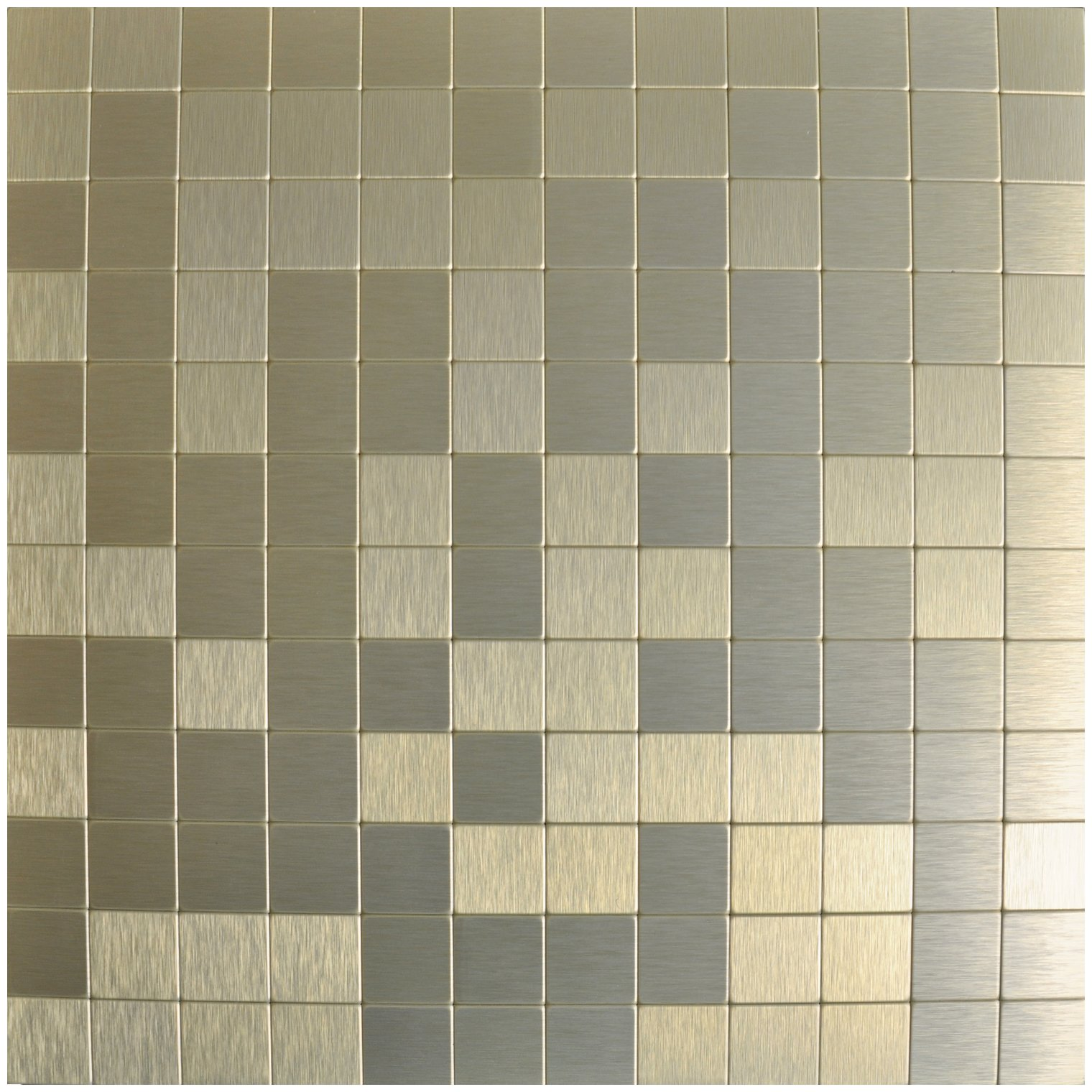 Art3d 10-Piece Backsplash Tile Peel and Stick Stainless Steel Mosaics, Champagne