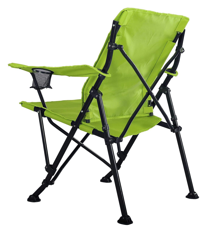 Strongback Elite Lime Green accoudoir et Porte-gobelets Fauteuil Pliant de Camping Ergonomique avec Soutien Lombaire Assise Large de 60/cm