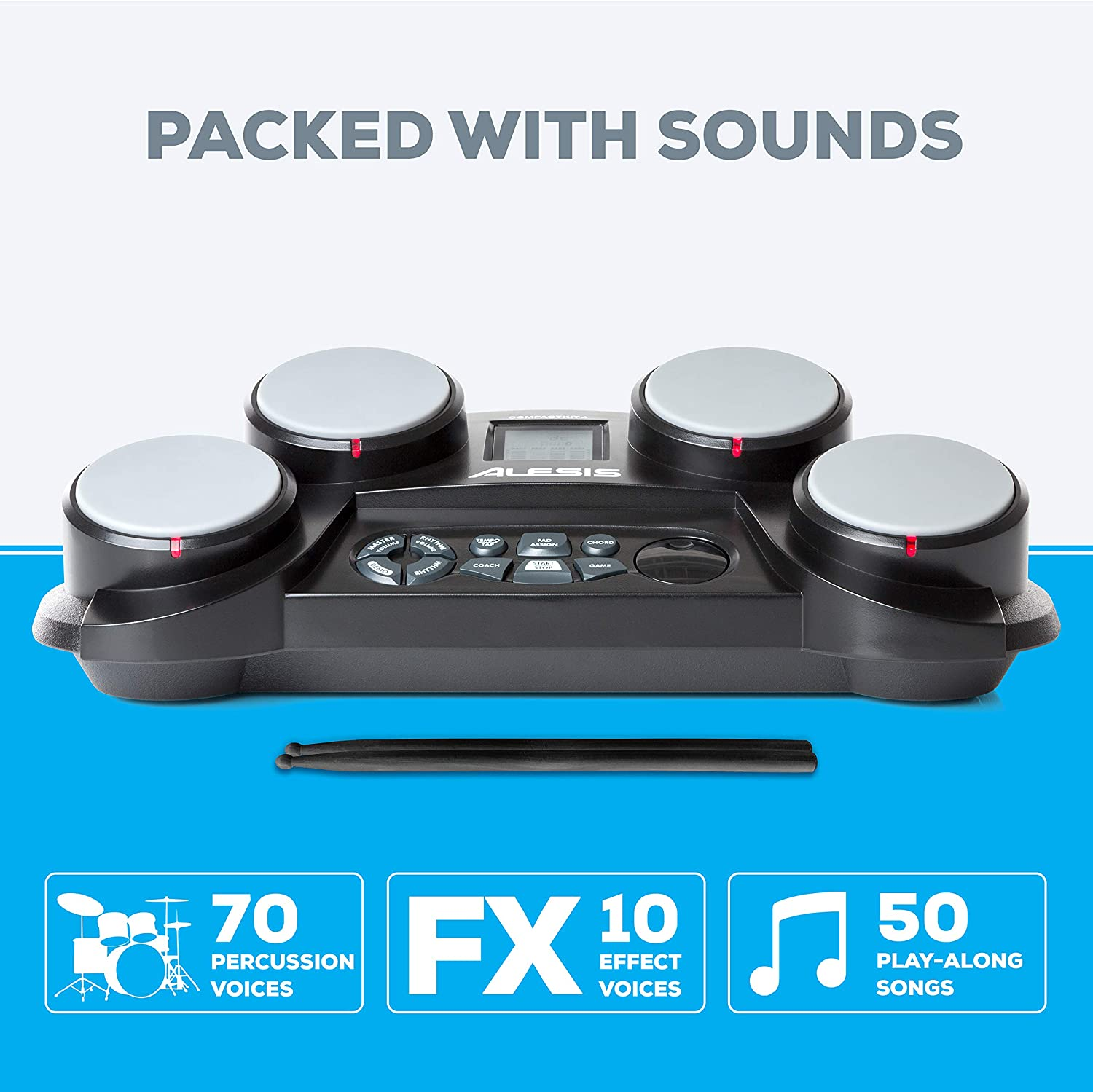 The 50 play-along songs Alesis Compactkit 4
