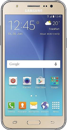 Samsung Galaxy J5 - Smartphone de 5 (Android, 4G, cámara de 13 MP, memoria interna de 8 GB, Super AMOLED), dorado