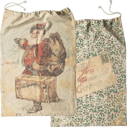 Vintage Style Christmas Santa Cloth Sack