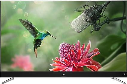 TCL U55C7006 - Televisor de 55 Pulgadas, Smart TV con 4K UHD, HDR Premium, Wide Color Gamut, Android TV y JBL by HaRMAN, Aluminio Cepillado [Clase de eficiencia Energética A+], Gris: Amazon.es: