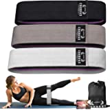 Resistance Bands for Legs and Butt,Exercise Bands Set Booty Bands Hip Bands Wide Workout Bands Resistance Loop Bands…