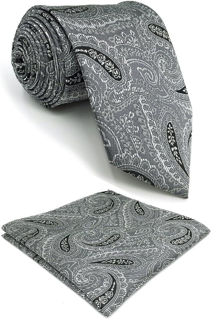 shlax&wing Traje de negocios Cachemir Corbatas Para Hombre Gris ...