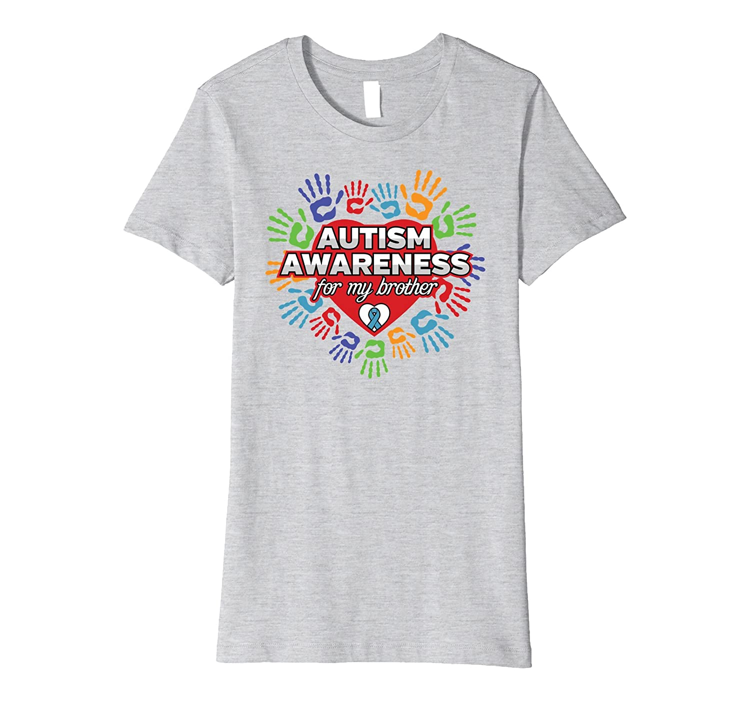 Autism Awareness for my Brother Colored Hands T-shirt