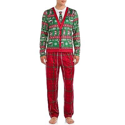 Briefly Stated FA La La La Llama Men's 2 Piece Pajamas Set at Amazon Men's Clothing store