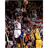 "$52 » Larry Johnson New York Knicks Autographed 8"" x 10"" Four Point Play Photograph - Fanatics Authentic Certified"