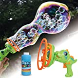 Happitry Bubble in Bubble Blower Machine for Toddlers Ages 3 Year Old and Up, Dinosaur Bubble Maker for Kids Outdoor Play, Bu