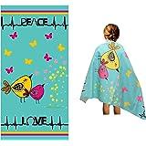 Toalla de playa de microfibra para niños – delgada y grande (76,2 x 152,4 cm) – Peace Love – absorbente, de secado rápido, li