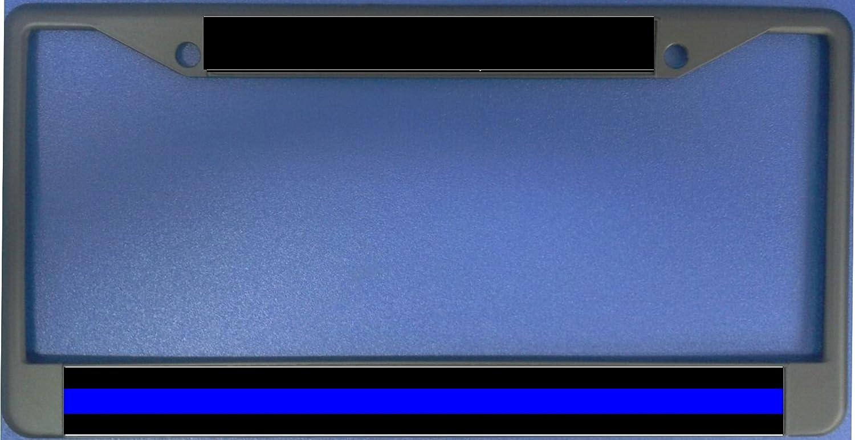Amazon.com: Police Thin Blue Line Photo License Plate Frame Free ...