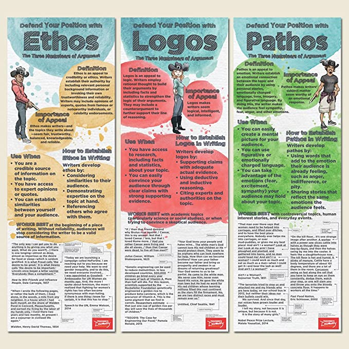 example of logos appeal in literature